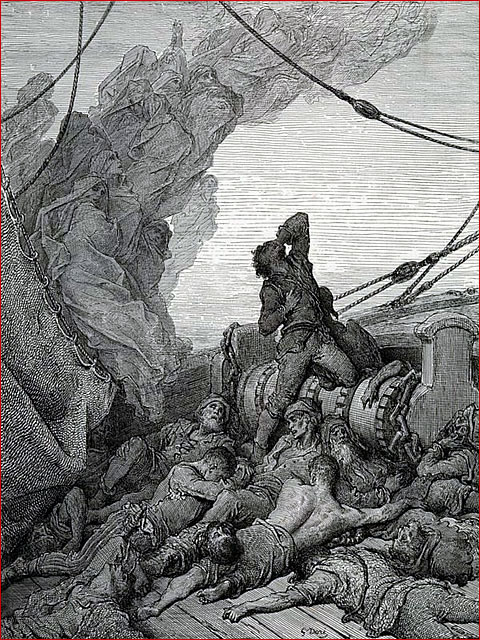 """rime of the ancient mariner commentary The poem begins by introducing the ancient mariner, who, with his """"glittering eye,"""" stops a wedding guest from attending a nearby wedding celebration the mariner stops the young man to tell him the story of a ship, providing no introduction but simply beginning his tale despite the wedding."""