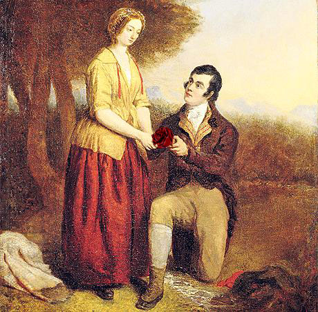 """an analysis of imagery in red rose by robert burns A red, red rose 